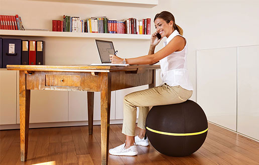the wellness ball from Technogym can help improve posture