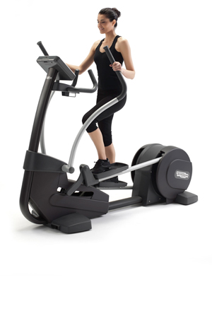 Technogym's Synchro Forma machine comes with an app that can help you with your workout routines.