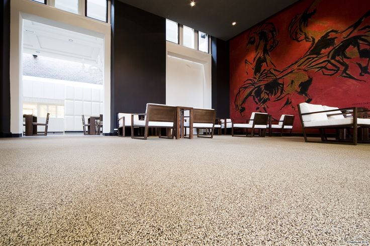 Commercial rubber floors come in different designs that can match your building's interiors.