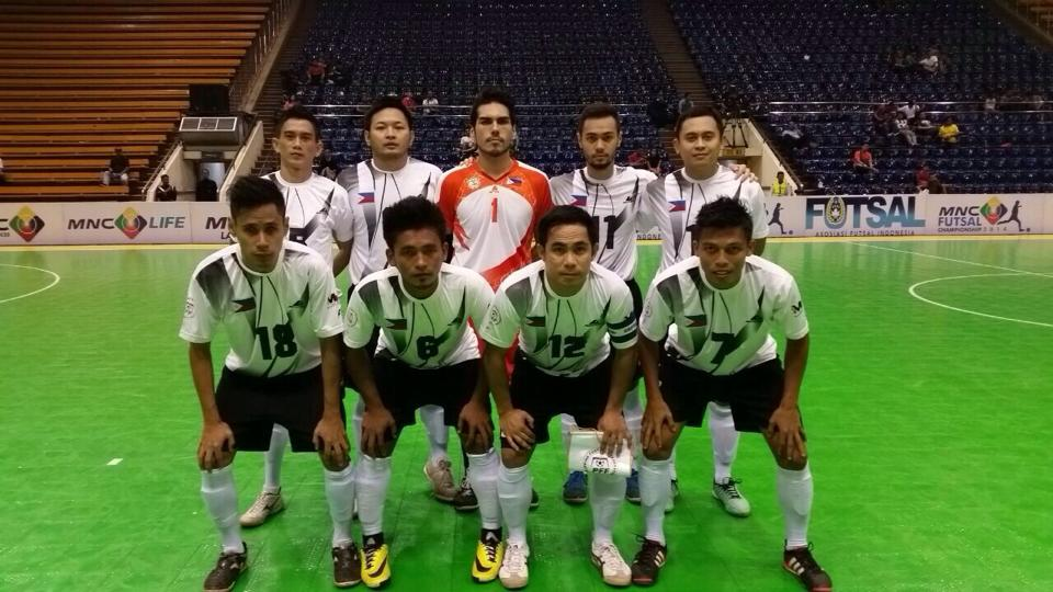 The Philippine futsal team, ready for action.