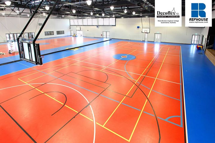Decoflex Seamless Indoor Sports Floor at West Moreton Anglican College.