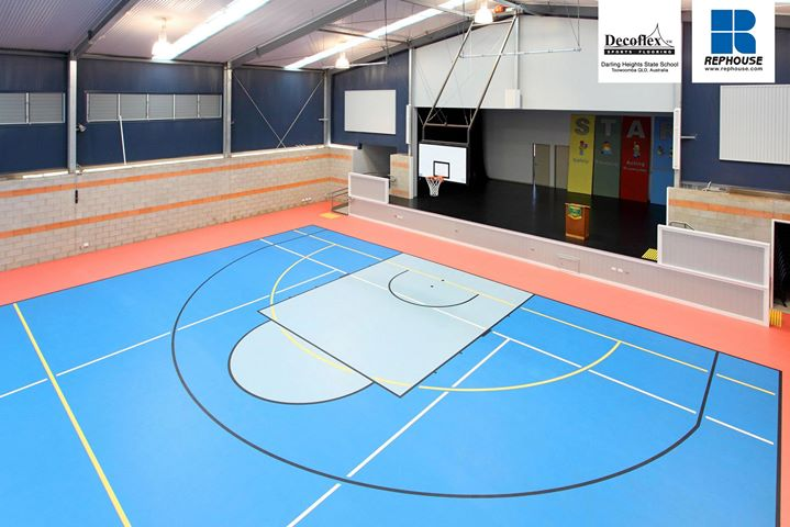 Decoflex Seamless Indoor Sports Floor at Darling Heights State School.