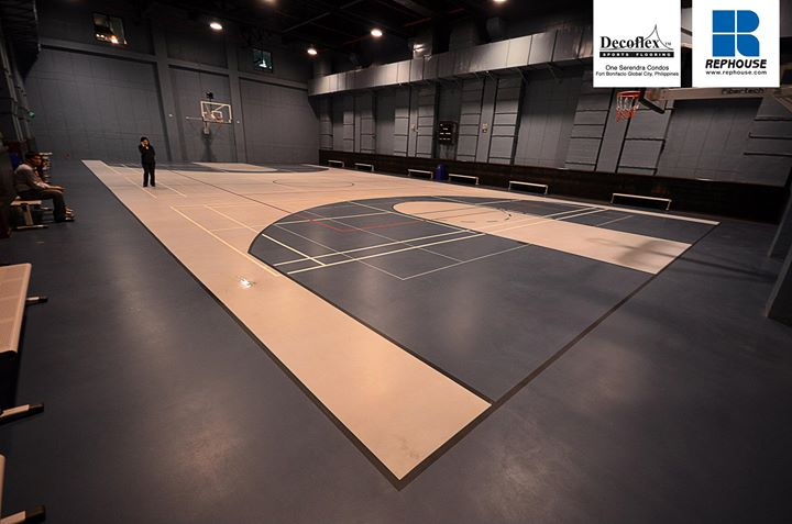 Decoflex Indoor Sports Floor at One Serendra Condominium Complex by Ayala Land.