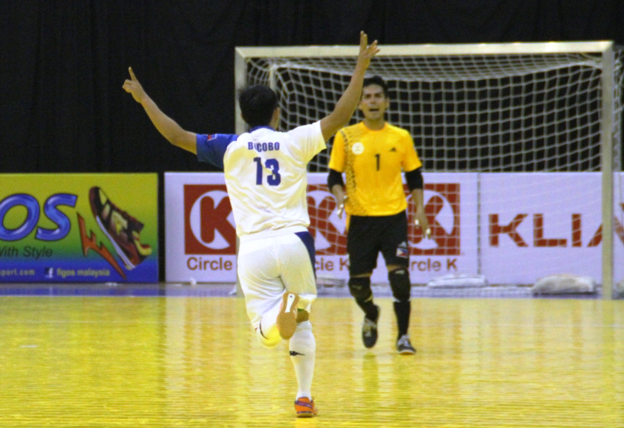 The Muzangs scores a goal in the recently concluded AFF championship.