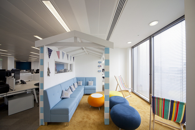 Breakout area in the Harvey Nash Office, London