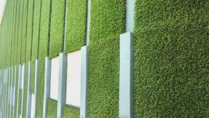 Limonta's artificial turf features drainage properties.