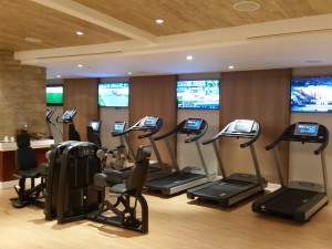 The Technogym treadmills at Solaire Resort and Casino.