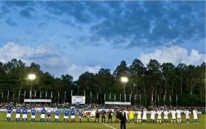 The Panaad Stadium during an international football competition.