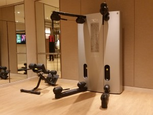 Technogym's Kinesis One system at the Solaire Fitness Center.
