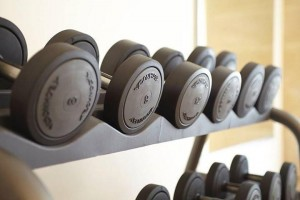 Technogym's heavy duty free weights burn calories while increasing strength.