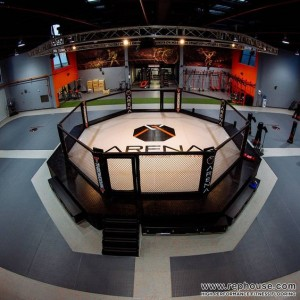 rubber floor mixed martial arts arena