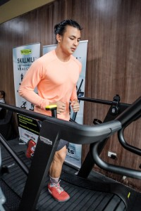 CrossFit athletes and guests at the launch got to try the Technogym SKILLMILL
